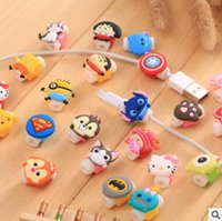 Wholesale Cartoon Minions Silicone Cable Saver USB Charger Charging Cable Earphone Wire Cord Protector Universal For iPhone Plus iPad iPod Samsung