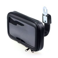 Wholesale New x8 x2 cm Waterproof Moorcycle Rear View Mirror Mount Case bag pouch For to Phone GPS with Foam Pads Oct21