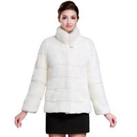 best mink coats - 2016 Best selling fashion mink coats Genuine Leather Mandarin Collar Warm white mink coat Young women mink fur coat