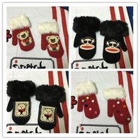 Wholesale NEW gloves cartoon DIY decoration color women gloves blended mittens to keep winter warm gloves for women