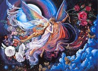 Wholesale Custom large mural wallpaper art d baby room European oil painting style sitting room bedroom angels fly myths fantasy fairy tale world