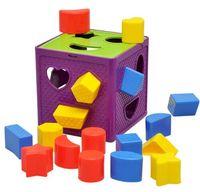 Wholesale Geometric cognitive box Plastic box matching blocks intelligence baby educational toys for children math brinquedo new kids
