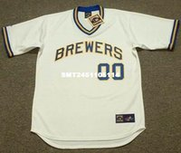 Wholesale Throwback Custom MILWAUKEE BREWERS s Retro jerseys Home quot Customized quot Men s embroidery baseball jersey