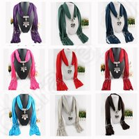 Wholesale 20 color LJJK152 Peacock Beaded Velvet Silk Tassels Embroidered Scarf Wrap Shawl Polyester Tassel Scarves leaf shape Necklace Scarves