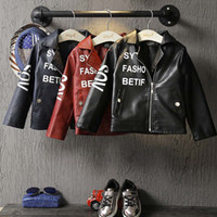 baby leather coats - Fashion Boys Jacket Children Outwear Boy Baby Coats Korean Kids Leather Jackets Autumn Coat Child Clothes Kids Clothing Lovekiss C27540