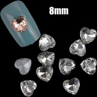 Wholesale 10pcs MM Acrylic nail rhinestone heart shaped nail art decoration gems D nail rhinestones crystal manicure tools accessories