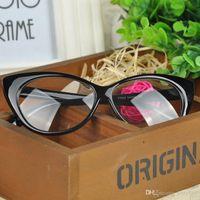 Wholesale Eye glasses frames Fashion choice Cat s eye shape Plain glass spectacles women eyeglasses frames decorations optical J CHM458