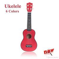 Wholesale Hot Homeland in Compact Ukelele Ukulele Basswood Soprano Acoustic Stringed Instrument Strings Candy Colors for Choose