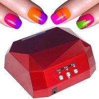 professional nail dryer - Professional Diamond Shape Nail Dryer LED UV Lamp W Gel Nail Machine Dry Nails EU US UK AU Plug