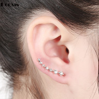 Wholesale Women s New Fashion Rhinestone Ear Cuff Earring Girls Cute Clip On Earrings Earcuff Brincos Piercing Orelha Cartilagem