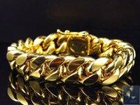 10k gold bracelet - Mens Genuine K Yellow Gold Handmade Miami Cuban Link Style Bracelet MM