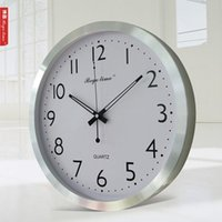 atomic homes - Brief europe style Morden Aluminium big atomic Wall Clock for home decorate hotel office use wall clock hot sale most popular