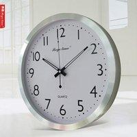 aluminium wall clock - Brief europe style Morden Aluminium big atomic Wall Clock for home decorate hotel office use wall clock hot sale most popular