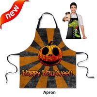 Wholesale Unique Work Apron D print party pattern for MenWomen Personalized Chef Aprons Sleeveless cm Restaurant Kitchen Aprons
