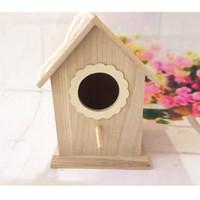 Wholesale cm Wood birds nest box breeding parrot Munia cockatiels swallows nest outdoors roof wooden bird house