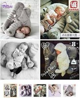 Wholesale Elephant Plush Toys dolls Elephant Stuffed Animal Toys Elephant Throw Pillow Elephant Baby sleeping High quality