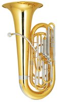 Wholesale 3 Bb Four Frontal Tuba Brass Body mm Bell Height mm with ABS Case EMS
