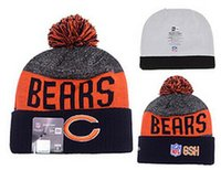 beanie cap bear - 2016 football Bears Chicago beanies Winter High Quality Beanie For Men Women Skull Caps Skullies Knit Cotton Hats