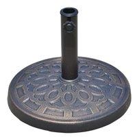Wholesale 17 quot Round Patio Decorative Cast Stone Umbrella Holder Base Stand Bronze Finish