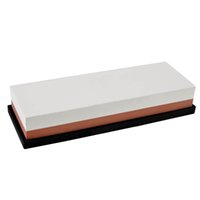 aluminum oxide stone - 1000 Grits Double side Aluminum Oxide Sharpening Stone Corundum Grindstone Oilstone Waterstone Sharpener with Non slip Silicone Base