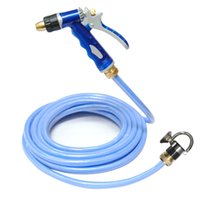 Cheap Wholesale-Free shipping, 20 meters blue water pipe car wash water gun set full copper household high pressure car wash device