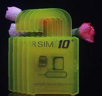 Wholesale Newest R SIM Unlock Card For iPhone s RGKINSE R SIM IOS IOS Support All SIM Card Retail Package DHL OTH194