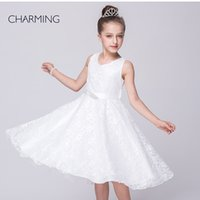 best bead suppliers - white pageant dresses dresses party designer dresses V neck sleeveless style Belts decoration Lace fabric best chinese suppliers