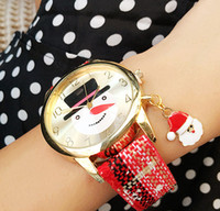 Wholesale newest cheap fashion unique japan quartz movement promotions colorful christmas watch for children christmas gift