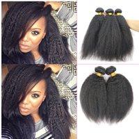 yaki weave hair - 7A Coarse Italian Yaki Brazilian Virgin Human Hair Afro Kinky Straight weave human hair extension remy hair weft