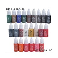 Wholesale 23 Colors Permanent Makeup Ink Bio Touch Micro Pigment Cosmetic ml Bottle Kits Supply