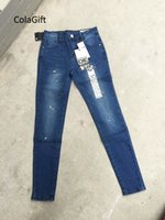 Wholesale 2016 New Europe And America Fashion Jeans Women Pencil Pants Sexy Slim Elastic Skinny Pants Trousers Fit Lady Jeans Plus Size