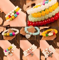 bead strands for decorating - Colorful crystal Bracelet Crystal Agate beads decorating for girls and women and high quality
