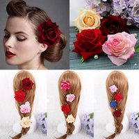 Wholesale Brand New Cloth Hair Jewelry Barrettes Flower Hair Clips Hair Accessories Multicolor PC GE05082