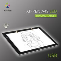 Wholesale XP Pen A4S quot LED Tracing Light Pad Light Box Light Pad Track Table Painting Plates drawing Tablet with USB cable