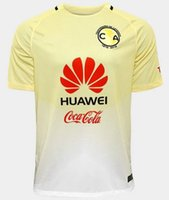 Wholesale 2016 Club America Home Yellow Soccer Jersey Top Thai Quality Soccer Shirts Discount Cheap Men s Soccer Wear Custom Name and Number