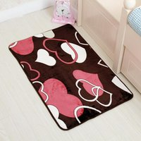 Wholesale Printing design carpet microfiber bedroom kitchen living room bathroom door mat non slip mats