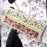Wholesale Literary Style Wooden Lacework Vintage Signets Pattern Decoration Signets For DIY Photo Album And Notebooks