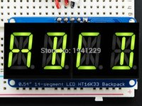 alphanumeric display - Quad Alphanumeric Display Yellow Green inch Digits w I2C Backpack for UNO duino and pi