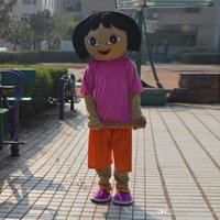 adult dora costumes - Hot Red Little Girl Young Girl Dora Mascot Costume Suit Adult Size Cartoon Clothing Fancy Dress Party