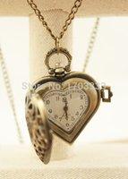 Wholesale DHL heart bronze vine retro girl women pocket watch Skeleton GF83
