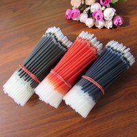 Wholesale 50pcs Ball Replacement Pen Refill Fine Black Red Bule Ink Color For School Office Pens mm
