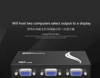 Wholesale High end KVM switch monitors all binary converter VGA interface display switches Two hosts use the monitors