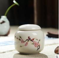 Wholesale Special offer tea ceramic tea pot Kung fu tea kettle seal powder portable storage tank AAA