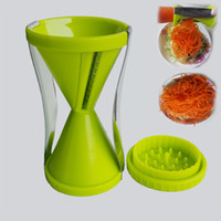 Wholesale Vegetable spiral slicer carrot cucumber zucchini noodle julienne cutter peeler kitchen piece grater cooking tool slicer twister
