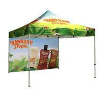 Wholesale Promotional pop up tent with customized logo advertising tent top printing Dye Sublimation Printing Tent Top