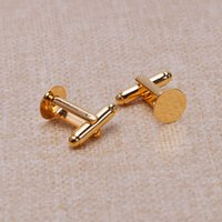 Wholesale Circular clothing cufflinks cuff links metal accessories golden mm mm mm mm