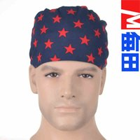 Wholesale Doctor Nurse pure cotton five pointed star Printing surgical cap Adjustable Top One Size Caps Unisex YYT
