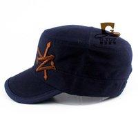 baseball field accessories - UNISEX Flat Roof Military Hat Cadet Patrol Bush Baseball Field Cap Sun Hat