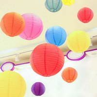 ballon craft - 20cm cm cm Multi Color Round Chinese Paper Lantern Birthday Wedding Party decoration gift craft DIY retail DHL