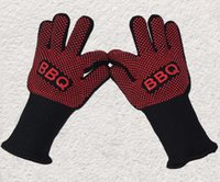 Wholesale Sinland Oven Mitts Gloves BBQ Grilling Cooking Gloves F Extreme Heat Resistant Gloves Pair Long For Extra Forearm Protection